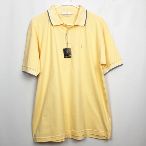 c31d2685f78 Yves Saint Laurent Shirts | Nwt Pour Homme Yellow Polo | Poshmark
